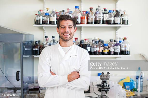 Portrait of medical student in laboratory