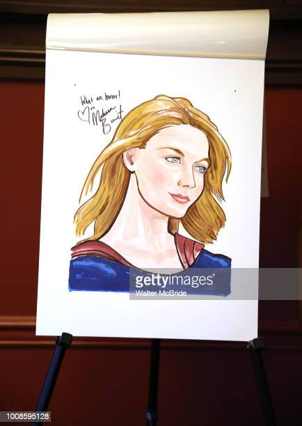 Portrait of Melissa Benoist during her Sardi's portrait unveiling at Sardi's on July 31 2018 in New York City