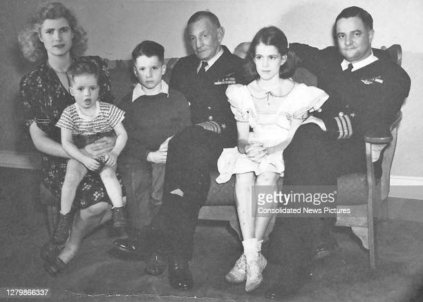 Portrait of members of the McCain family, circa 1944. Pictured are, from left, Roberta McCain , her sons, Joe McCain and John S McCain III , her...
