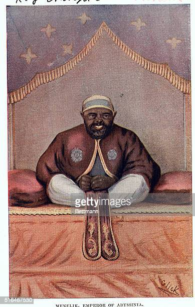 Portrait of Menelik Emperor of Abyssinia Undated Illustration