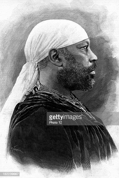 Portrait of Menelik II of Ethiopia Negus of Shewa He fought and won against the Italians during the Battle of Adowa in 1896