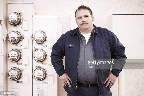 Portrait of meter reader