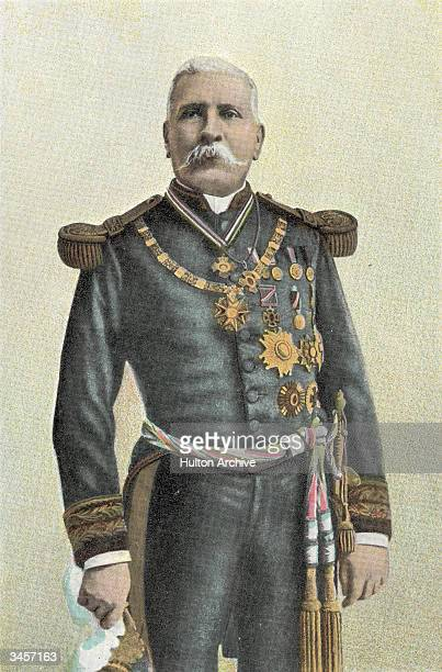 Portrait of Mexican President Jose de la Cruz Porfirio Diaz late 1800s