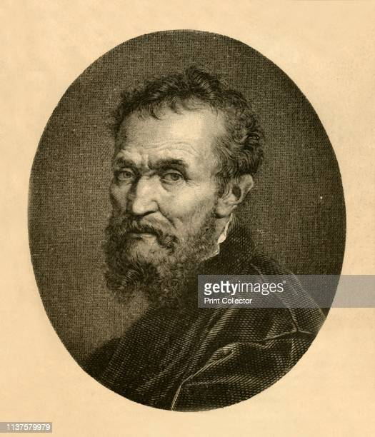 Portrait of Michael Angelo Buonarotti' 1881 Michelangelo di Lodovico Buonarroti Simoni or more commonly known by his first name Michelangelo was an...
