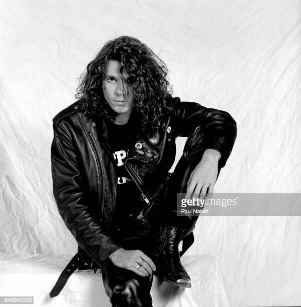 Portrait of Michael Hutchence of INXS at the Miami Arena in Miami, Florida, March 1, 1988.