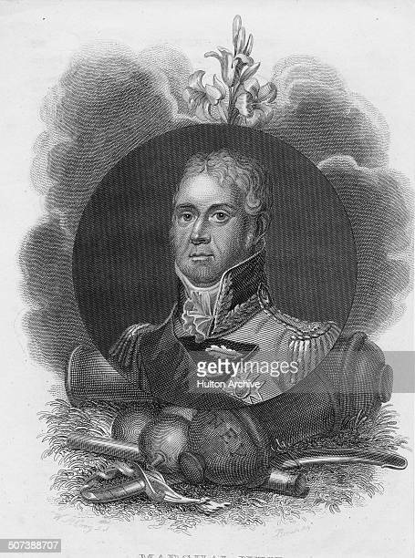 A portrait of Michel Ney FirstDuc d'Elchingen Prince de la Moskowa and Marshal of France on 1 June 1809 in Paris France An engraving by William...