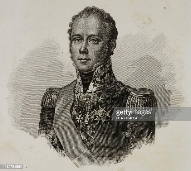 Portrait of Michel Ney French general engraving from Vite dei primarj marescialli e generali che ebbero parte nelle guerre napoleoniche dal 1796 al...