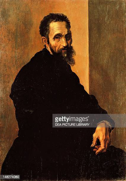 Portrait of Michelangelo ca 1535 by Jacopino del Conte