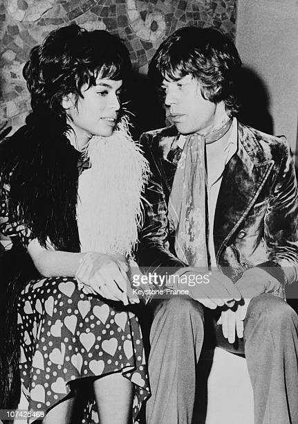 Portrait Of Mick Jagger And His Wife Bianca