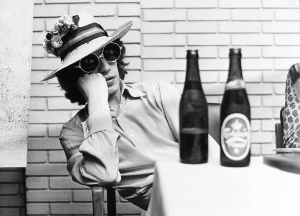 Portrait Of Mick Jagger With A Sun Hat At Copenhagen...