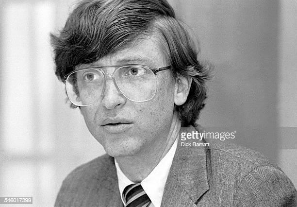 Portrait of Microsoft founder Bill Gates London circa 1989