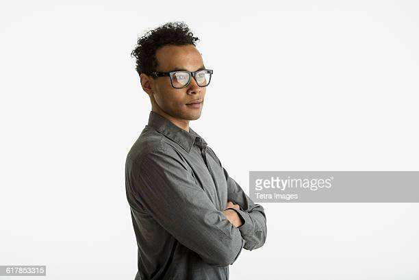 portrait of mid adult man - looking away stock pictures, royalty-free photos & images