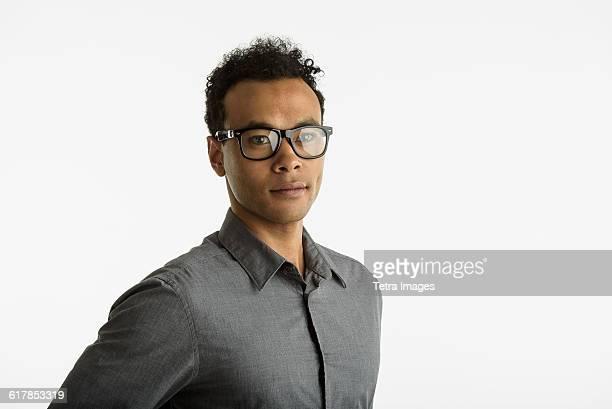 Portrait of mid adult man