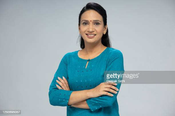 portrait of mid adult woman - stock photo - mid adult women stock pictures, royalty-free photos & images
