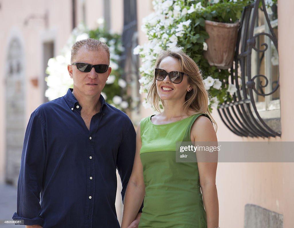Portrait of middle age couple : Stock Photo