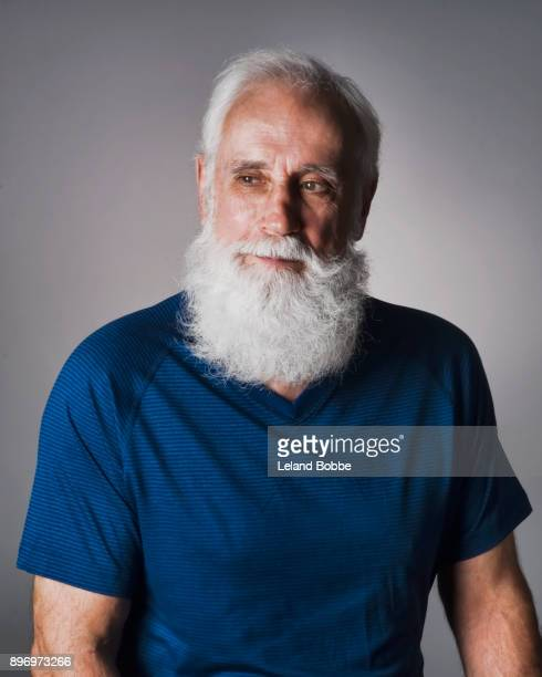 Portrait of Middle Aged Caucasian Male With White Beard
