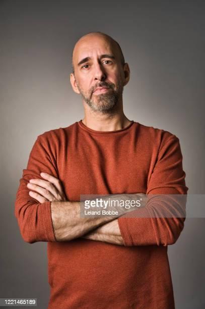 portrait of middle aged gay man - beautiful gay men photos et images de collection