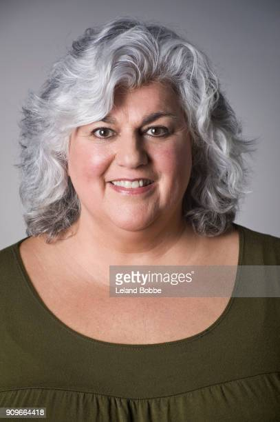 Portrait of Middle Aged woman With Gray Hair