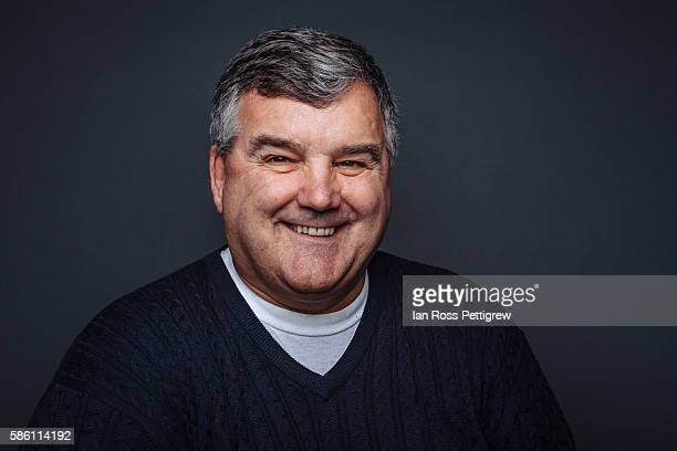 portrait of middle-aged businessman - chubby men stock photos and pictures