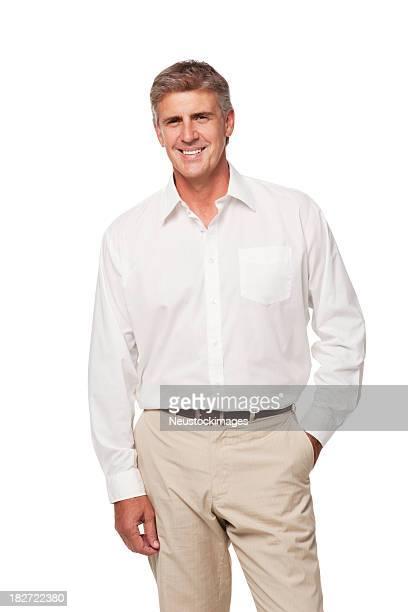 ポートレートの中年男性。絶縁型