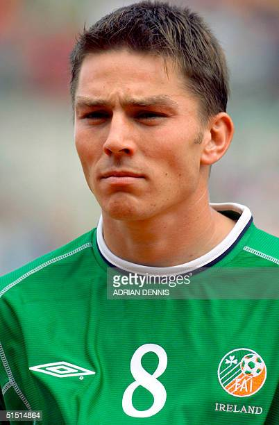 Portrait of midfielder Matt Holland from the Republic of Ireland taken 01 September 2001 in Dublin before the start of the 2002 FIFA World Cup...