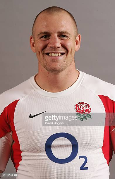 A portrait of Mike Tindall of England Rugby Union taken at Loughborough University on October 9 2006 in Loughborough United Kingdom