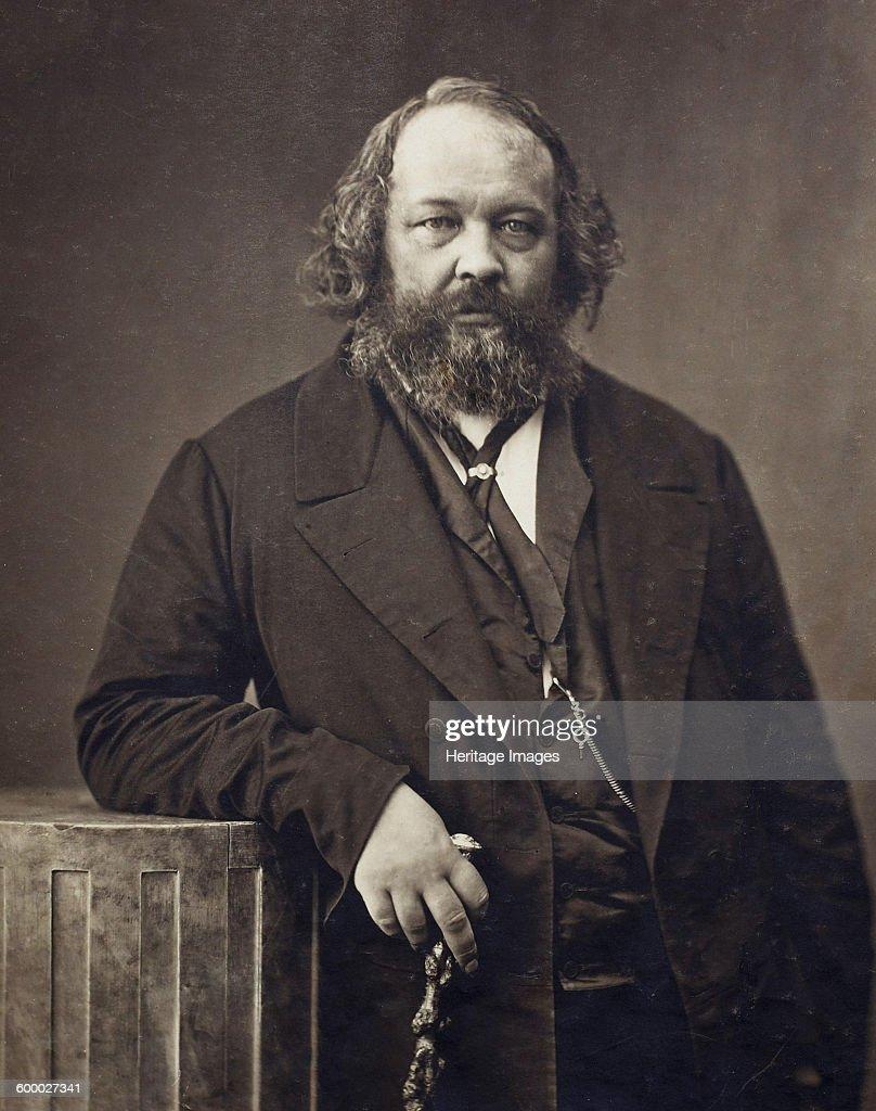 Portrait of Mikhail Alexandrovich Bakunin (1814-1876), ca 1860 : News Photo