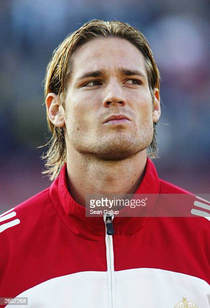 Portrait of Miklos Feher of Hungary taken before the UEFA European Championships 2004 Group Four Qualifying match between Hungary and Poland held on...