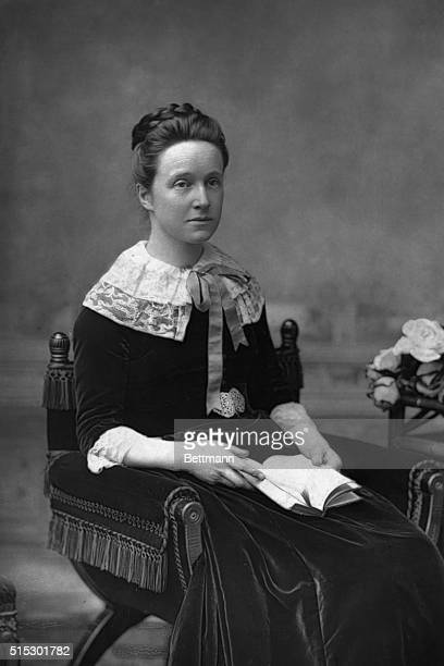 Portrait of Millicent Fawcett prominent British woman suffrage leader president of the National Union of Women's Suffrage Societies She is shown here...