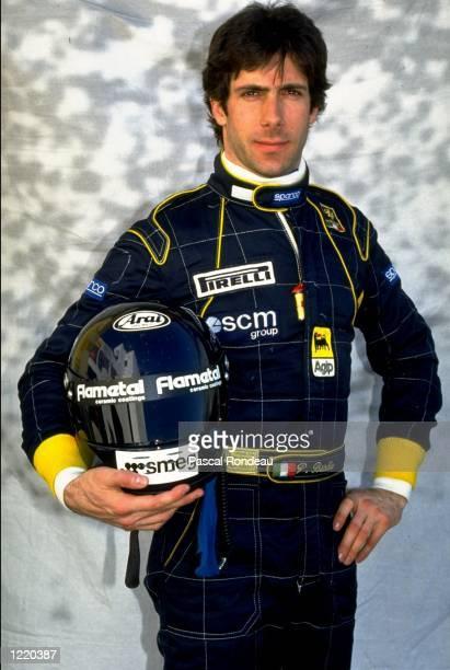 Portrait of Minardi Cosworth driver Paolo Barilla of Italy before the Portuguese Formula One Grand Prix held at the Estoril circuit in Estoril...