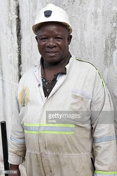 portrait of miner - 鉱山労働者 ストックフォトと画像