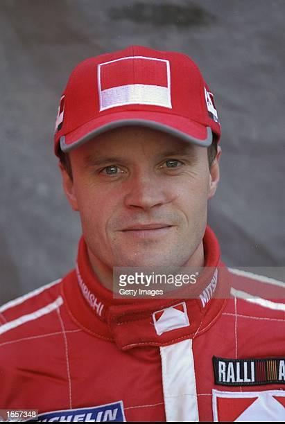 Portrait of Mitsubishi team driver Tommi Makinen of Finland Mandatory Credit AllsportUK /Allsport