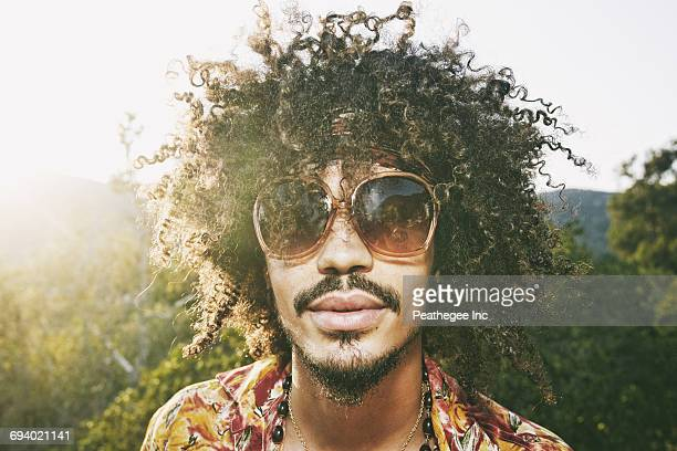 portrait of mixed race man wearing sunglasses - cape verde stock pictures, royalty-free photos & images