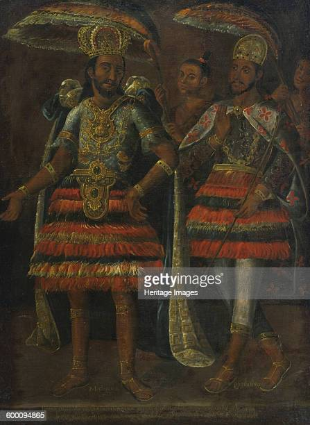 Portrait of Moctezuma and Cuauhtémoc 17th century Private Collection Artist Anonymous