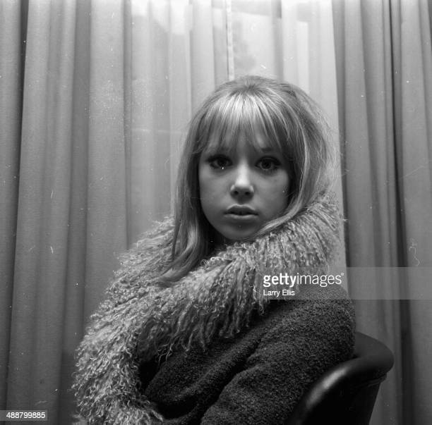 Portrait of model and actress Pattie Boyd wearing a fur lined coat March 3rd 1964