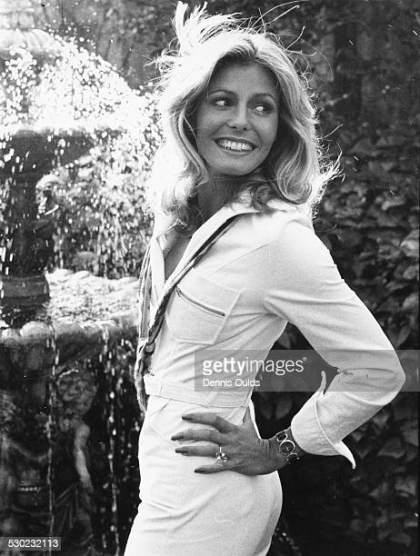 Portrait of model and former Miss World winner Marjorie Wallace London November 18th 1975