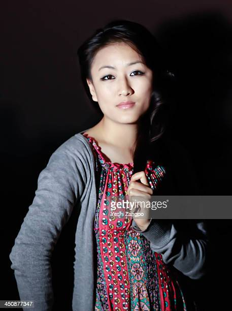 portrait of modern Bhutan girl