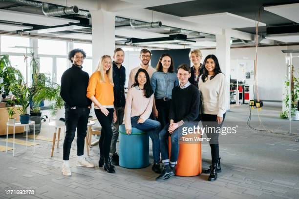 portrait of modern business startup team members - diversity stock pictures, royalty-free photos & images