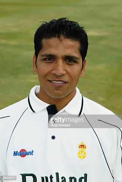 Portrait of Mohammad Ali of Derbyshire taken during the Derbyshire County Cricket Club photocall held on April 14 2003 at the County Ground in Derby...