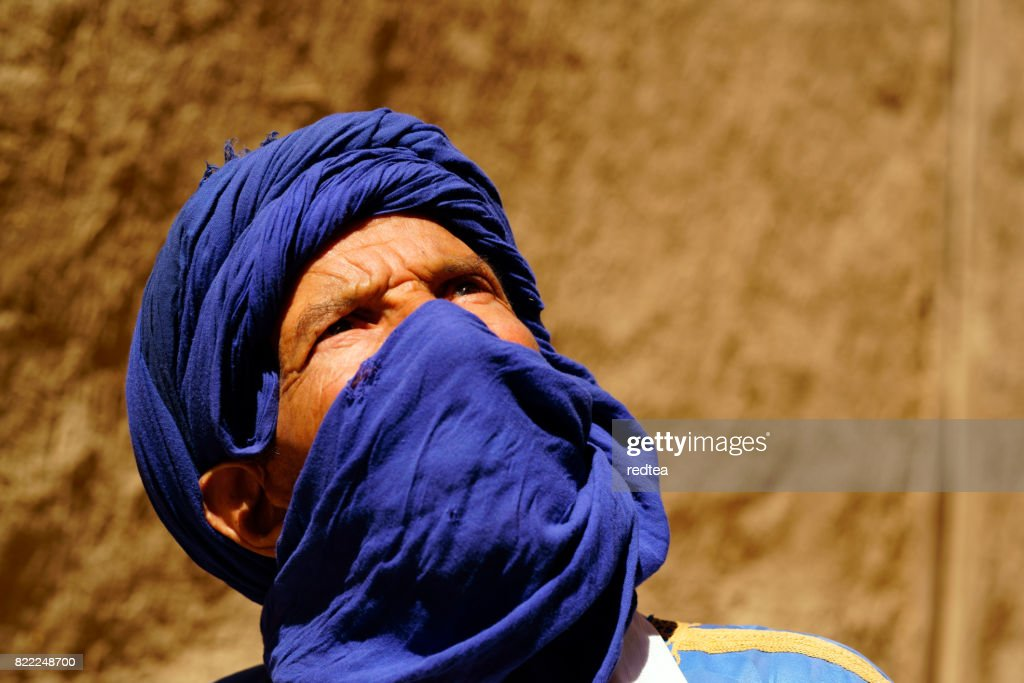 Portrait of Moroccan man : Stock Photo