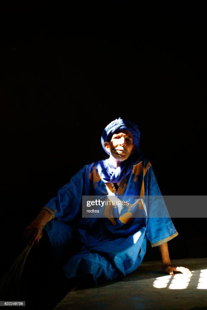 Portrait of Moroccan man : Stock Photo