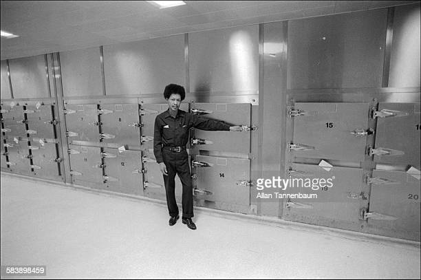Portrait of mortuary employee Terence Galagher at Bellevue Hospital New York New York February 11 1979