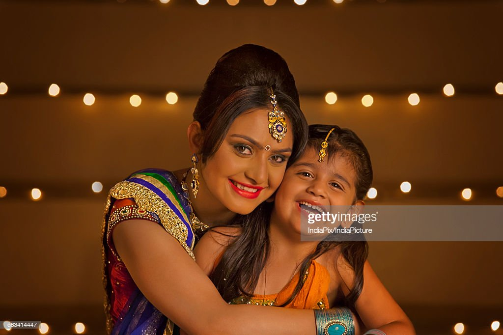 Portrait of mother and daughter : Stock Photo