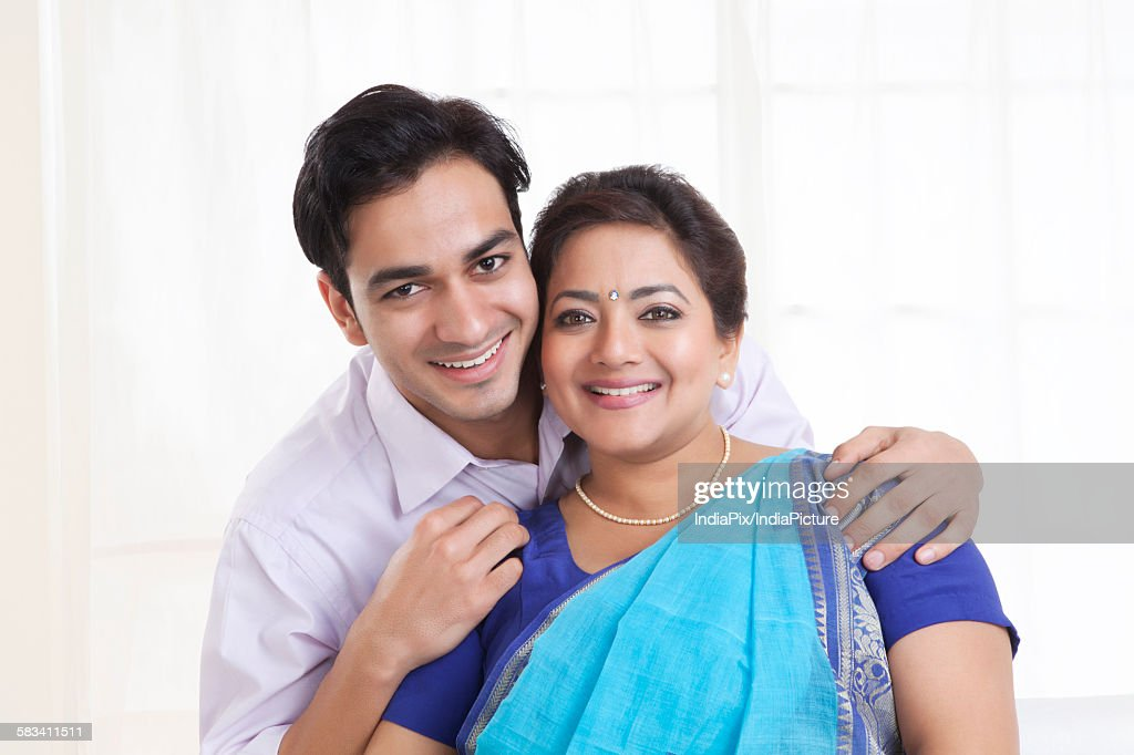 Portrait of mother and son : Stock Photo