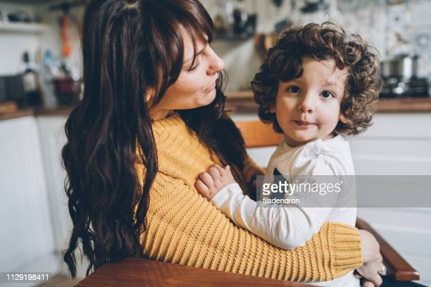 Portrait of mother and son Unconditional love