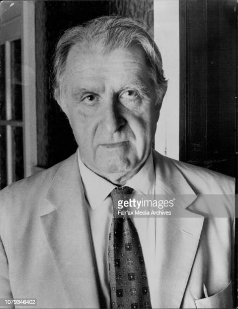 Portrait of Mr Denis Warner who is involved in the Burchett Libel caseDenis Warner Herald correspondent reports from the Vietnamese refugee camp at...