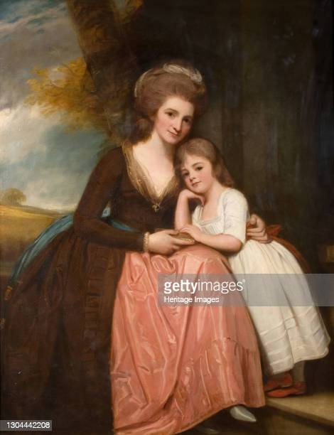 Portrait Of Mrs Bracebridge And Her Daughter Mary, 1784. Mary Elizabeth Bracebridge , daughter of Sir Charles Holte of Aston Hall, Warwickshire and...