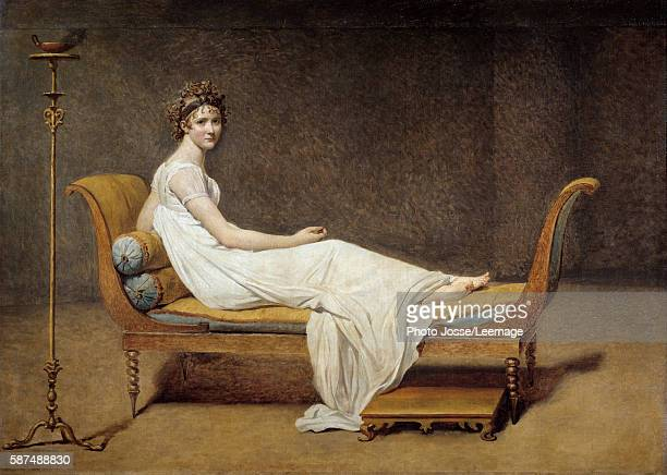 Portrait of Mrs Recamier Jeanne Francoise called Juliette Painting by Jacques Louis David oil on canvas 1800 Musee du Louvre Paris Fance