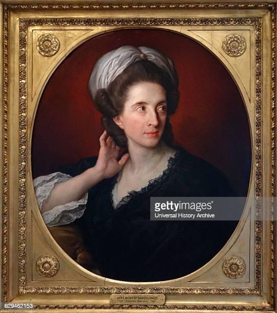 Portrait of Mrs Robert Sandilands by Pompeo Batoni Italian painter Dated 18th Century