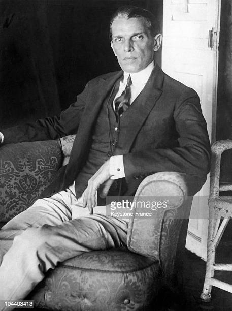 Portrait of Muhammad Ali JINNAH leader of the Indian Muslim League on a trip to London